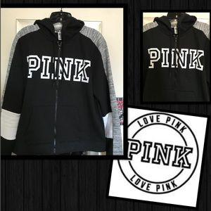 🍂❄️🌸☀️New, never worn PINK zip front hoodie.